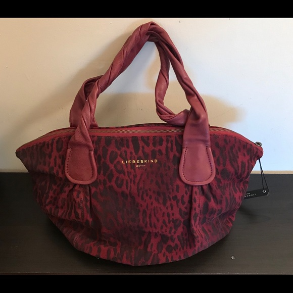bb4d84a1f99 Liebeskind NWT Giulia suede lux leopard print bag